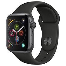 Apple Watch Series 4 40mm (grå alu/sort sportsrem)