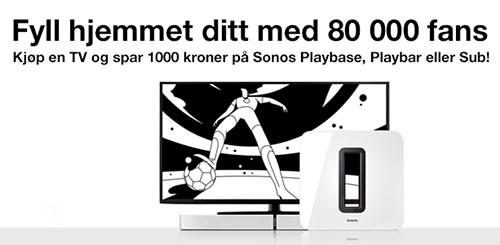 Spar 1000,- på Sonos Playbar, Playbase eller Sub