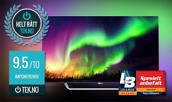 Philips 65OLED873 TV med Ambilight. Best i test