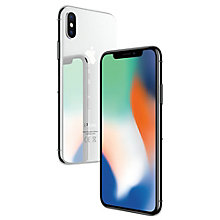 iPhone X 64GB - sølv