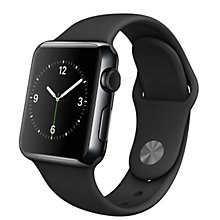 38mm Space Grey Alu Case Black Sport Band