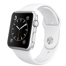 42mm Silver Alu Case White Sport Band