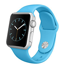 42mm Silver Alu Case Blue Sport Band