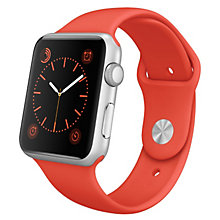 38mm Silver Alu Case Orange Sport Band
