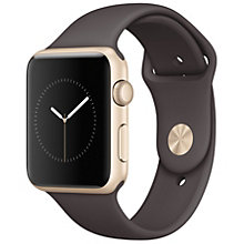 Apple Watch 1 42 Gold Alu Cocoa Sport Band