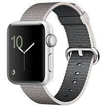 Apple Watch2, 38 Silv Alu Case Pearl Woven Nylon