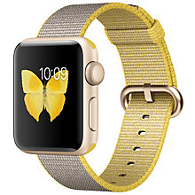 Apple Watch2, 38 Gold Alu Case Yell Grey Woven Nyl