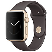 Apple Watch2, 42 Gold Alu Case Cocoa Sport Band