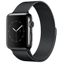Apple Watch2, 42 Space Black St Steel Black M Loop