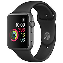 Apple Watch 1 42 Space Grey Alu Black Sport Band