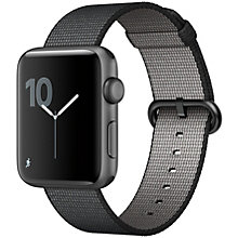 Apple Watch 2 42 Space Grey Alu Black Woven Nylon