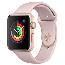 Apple Watch Series 3 42 mm (pink/sand sportsrem)