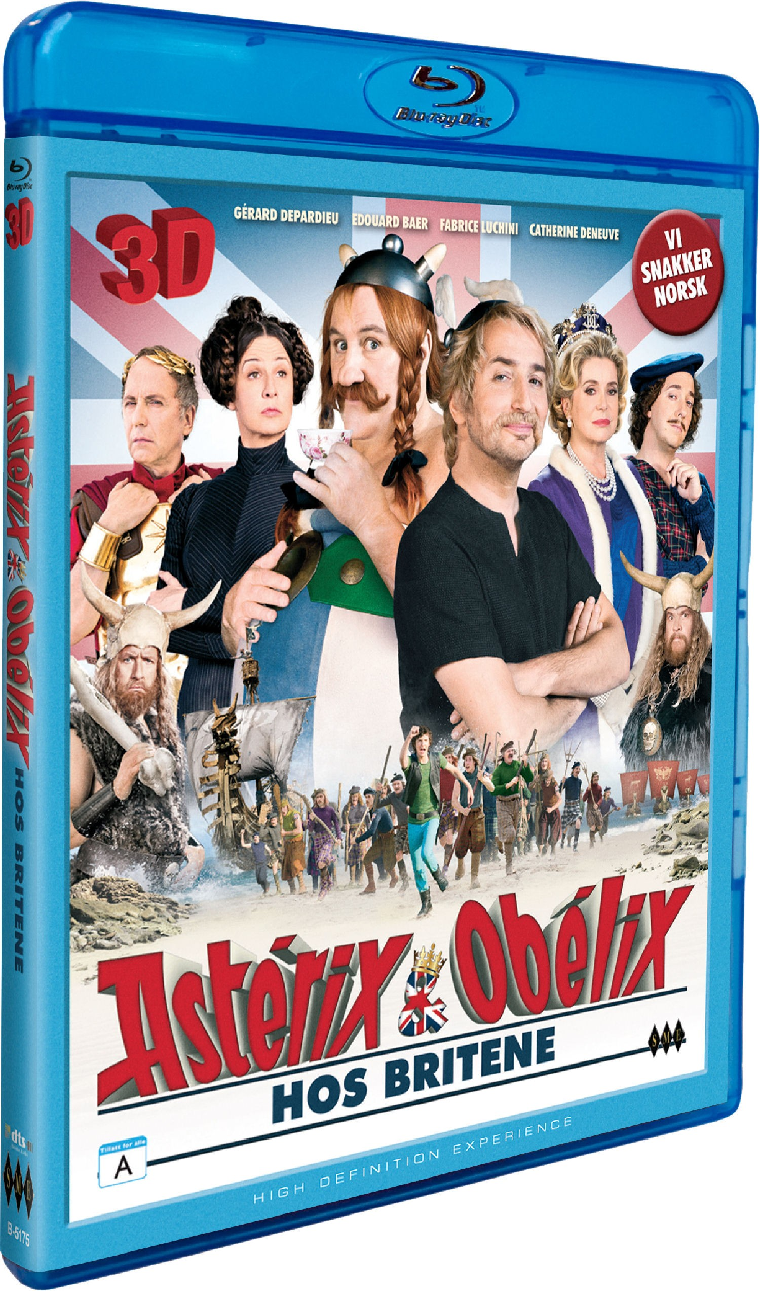 BD3DASTERIX : Asterix og Obelix hos Britene (3D Blu-ray)