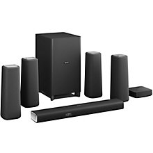 PHILIPS HOME CINEMA SYSTEM 5.1 BLACK