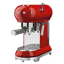 SMEG ESPRESSO MACHINE RED.
