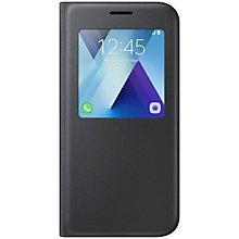 Samsung Galaxy A5 2017 S-View stående cover - sort