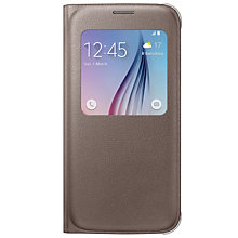 Samsung Galaxy S6 S-View Cover Gold
