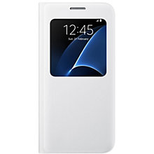 Samsung S View Flip Cover til Galaxy S7 - hvid