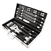 BBQ set. 20 pcs. In aluminum case.