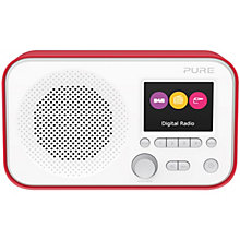 PURE DAB FM RADIO RED