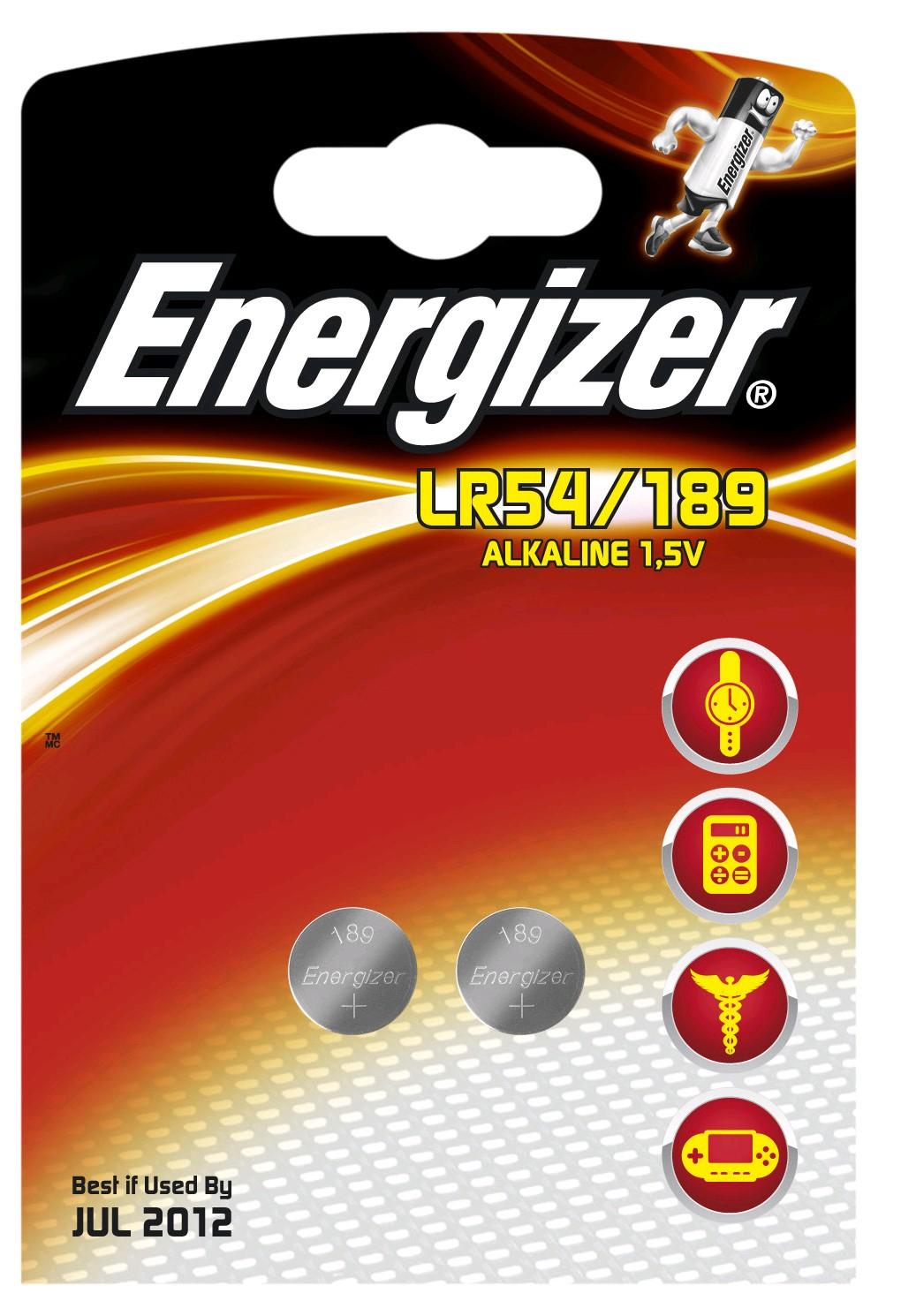 235272 : Energizer Button Cell Batteri LR54 2 stk.