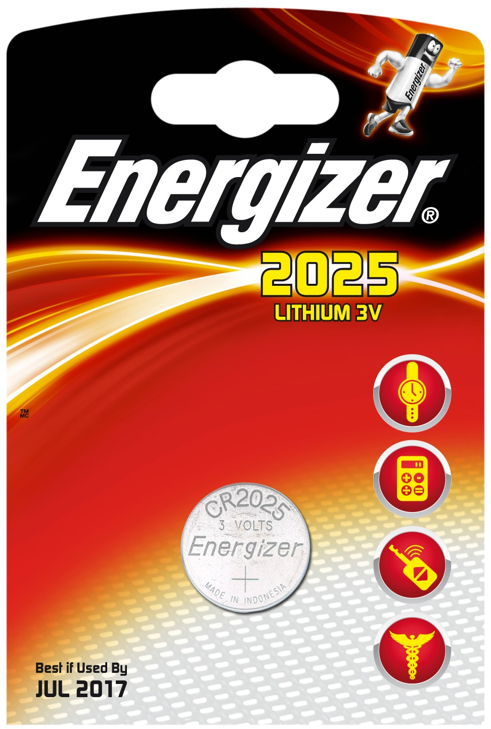 235252 : Energizer spesialbatteri CR2025 (1 stk)