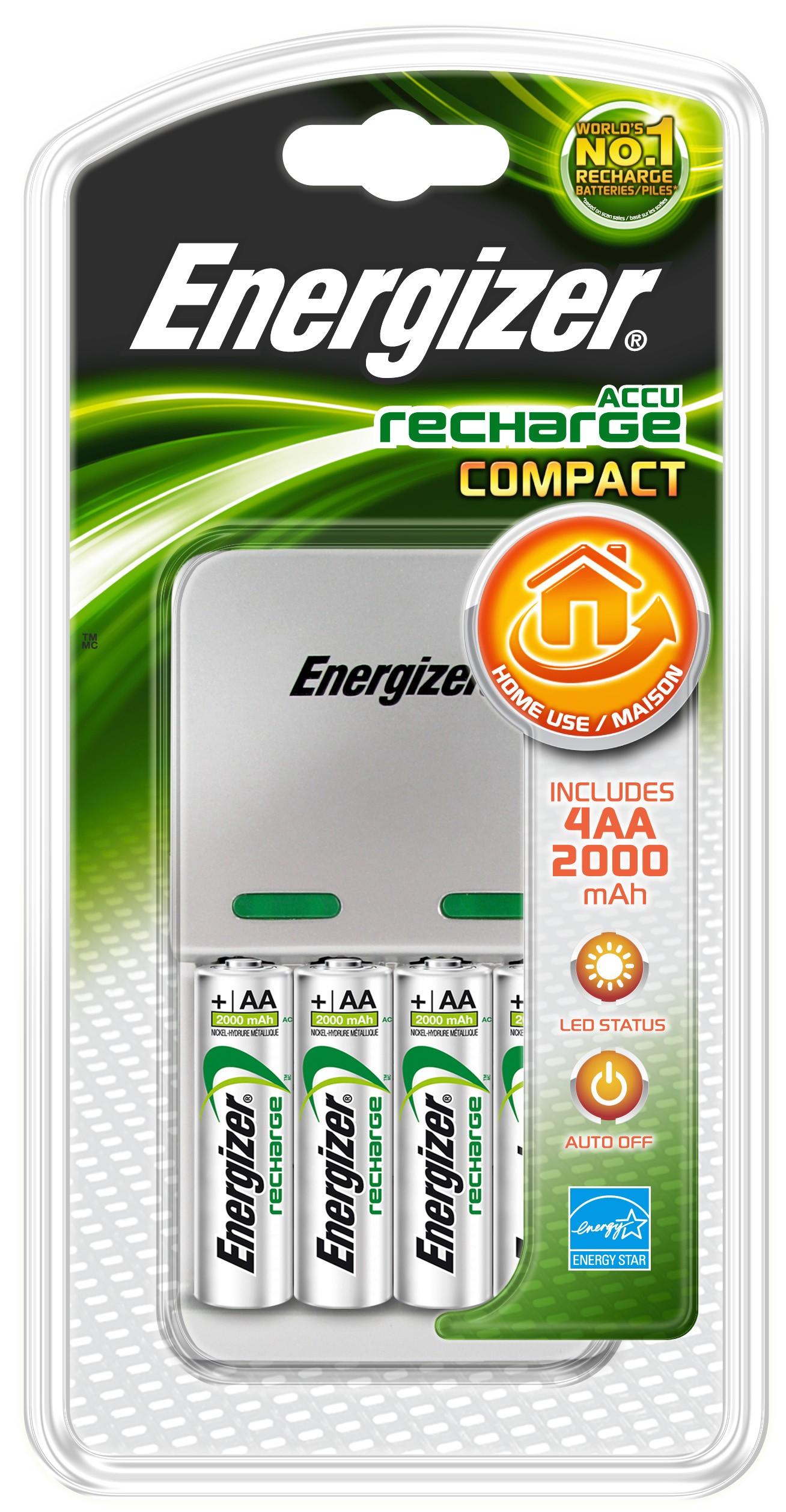235320 : Energizer Maxi 2000 lader med 4x AA-batterier