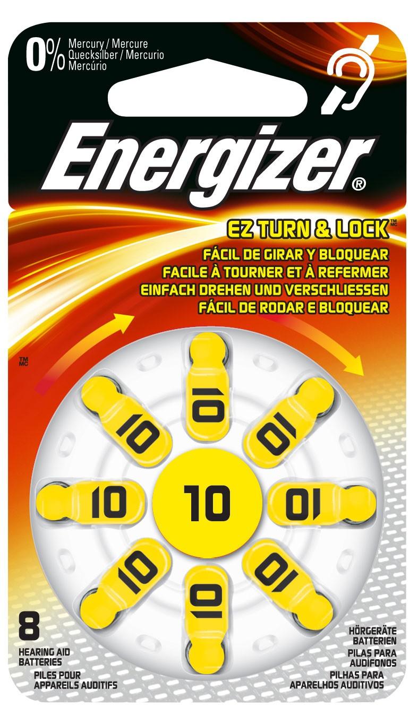 235360 : Energizer batterier til høreapparat Zinc Air 10, 8 pakk