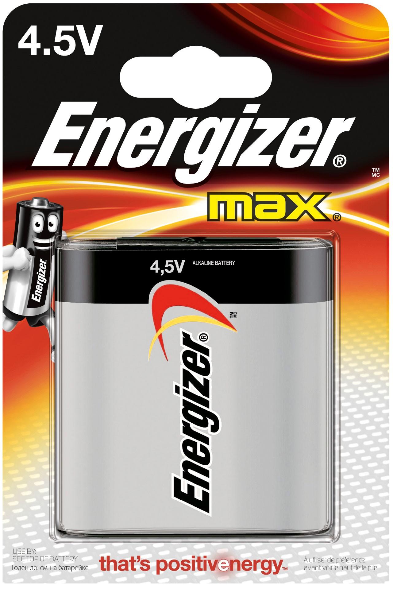 235482 : Energizer 4.5 V Max Batterier (1 pakk)