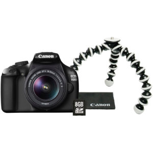 Canon EOS 1100D + 18-55IS II + 8GB + tripod