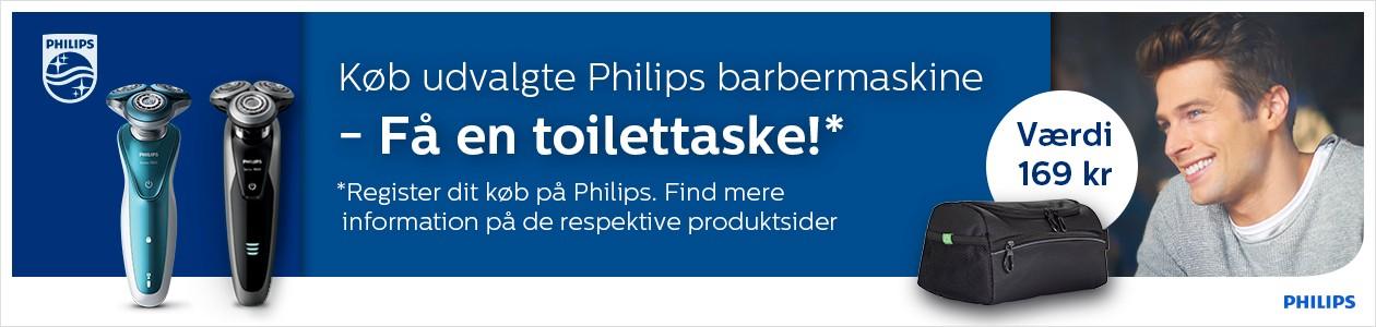 Køb Philips Shaver og Grooming produkter og få en toilettaske!
