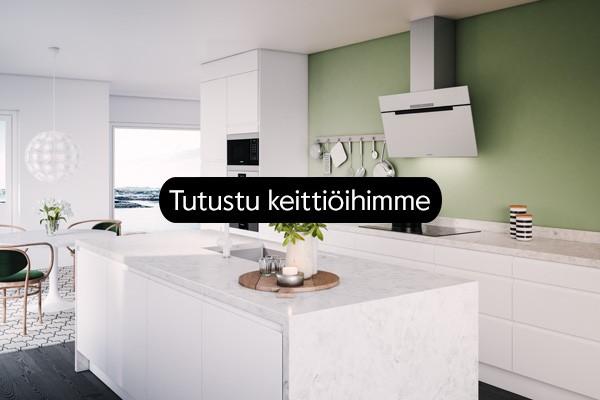 Toimiva ja kaunis keittiö on kodin sydän