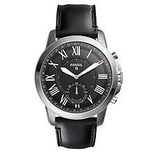 Fossil Q Hybrid smartwatch (mænd - lædersort)