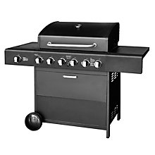 Gas BBQ Meteor 6+1B. Black edition