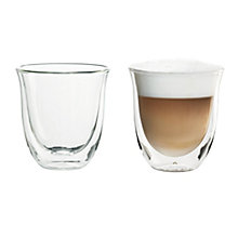 DeLonghi SET OF 2 CAPPUCCINO GLASSES
