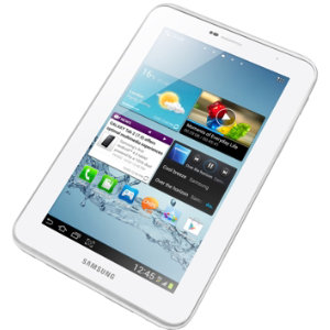 "Samsung Galaxy Tab 2, 7"" 8GB WiFi + 3G (hvit)"