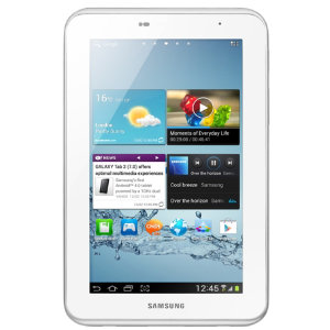 "Samsung Galaxy Tab 2, 7"" 8GB WiFi (hvit)"