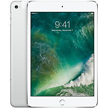iPad mini 4 128 GB Wi-Fi + 4G/LTE – sølv