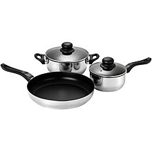 LOGIK 5pc Stainless Steel Non Stick