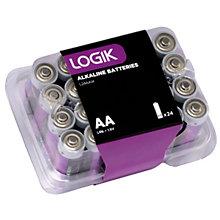 LOGIK ALKALINE BATTERY AA 24 PACK