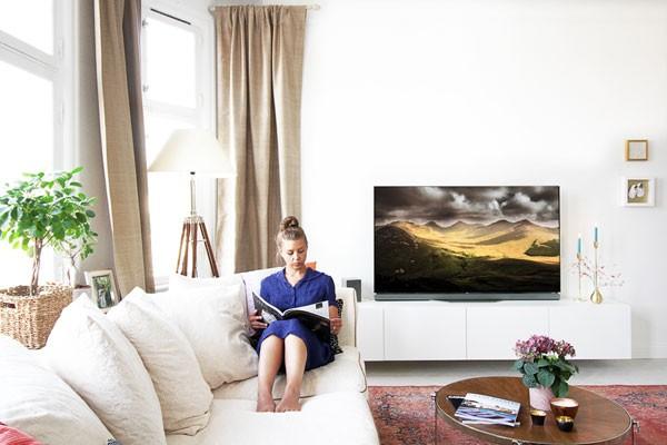 Elegant och slank oled-TV
