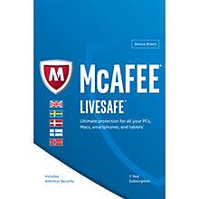 McAfee LiveSafe (Device Attach) Premium