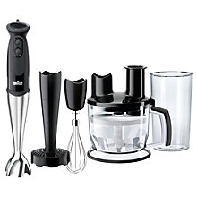 BRAUN STICKMIXER 750W BLACK/STEEL