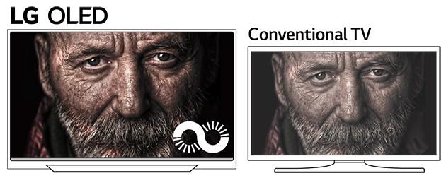LG OLED leverer perfekt sort