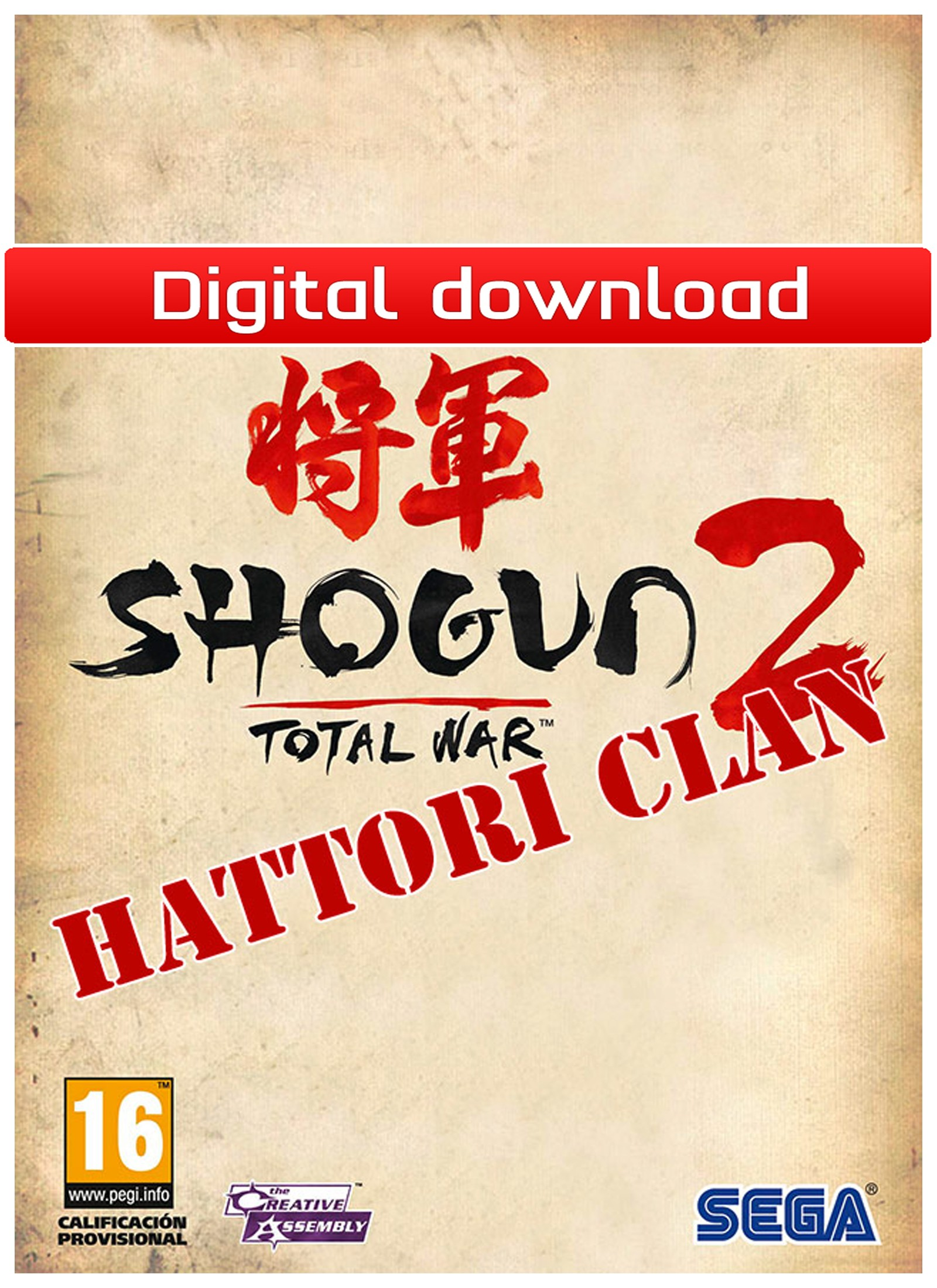 28210 : Total War: Shogun 2: Hattori Clan Pack (PC nedlastning)
