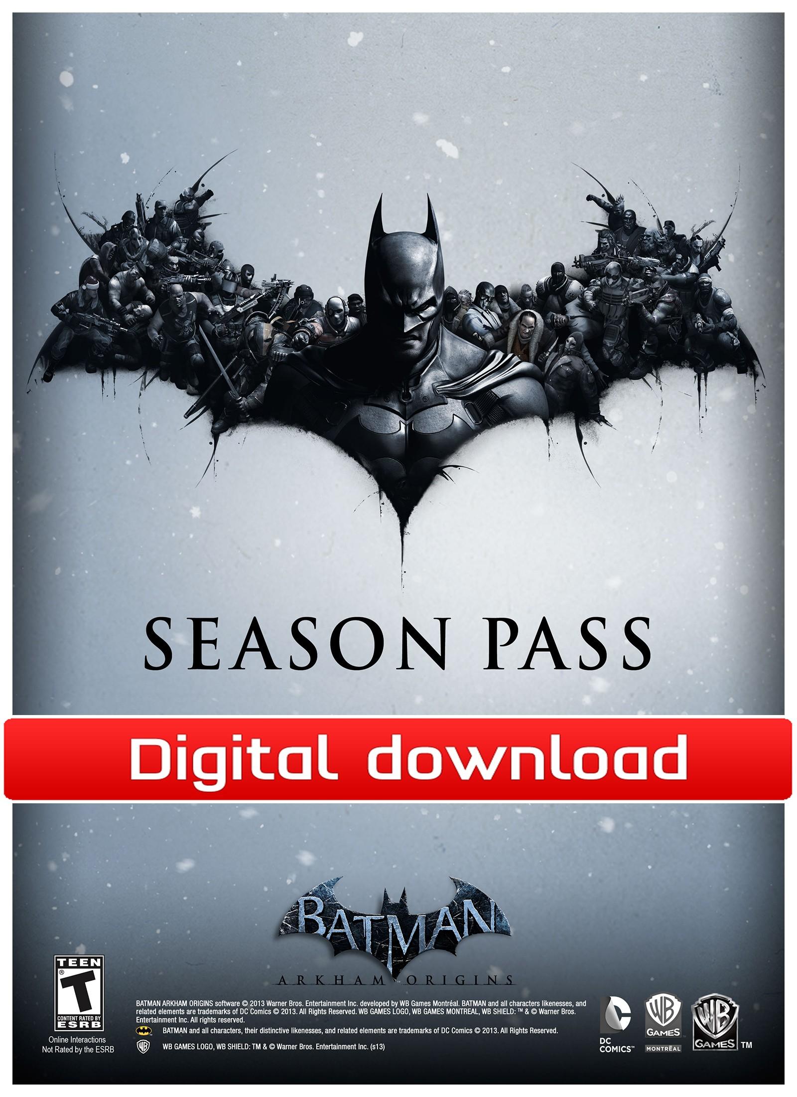 34072 : Batman Arkham Origins Season Pass (PC nedlastning)