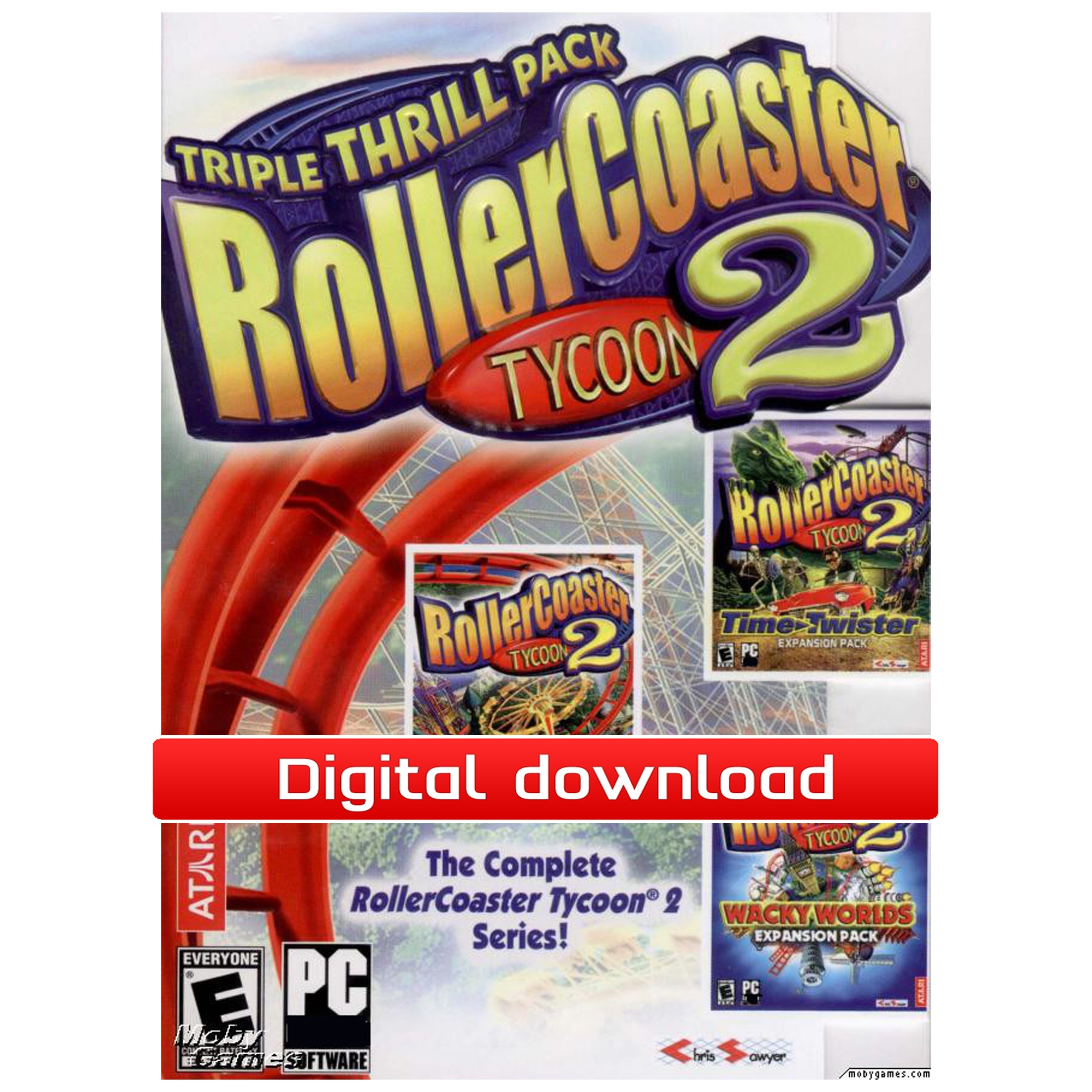 37175 : RollerCoaster Tycoon 2: Triple Thrill Pack (nedl)