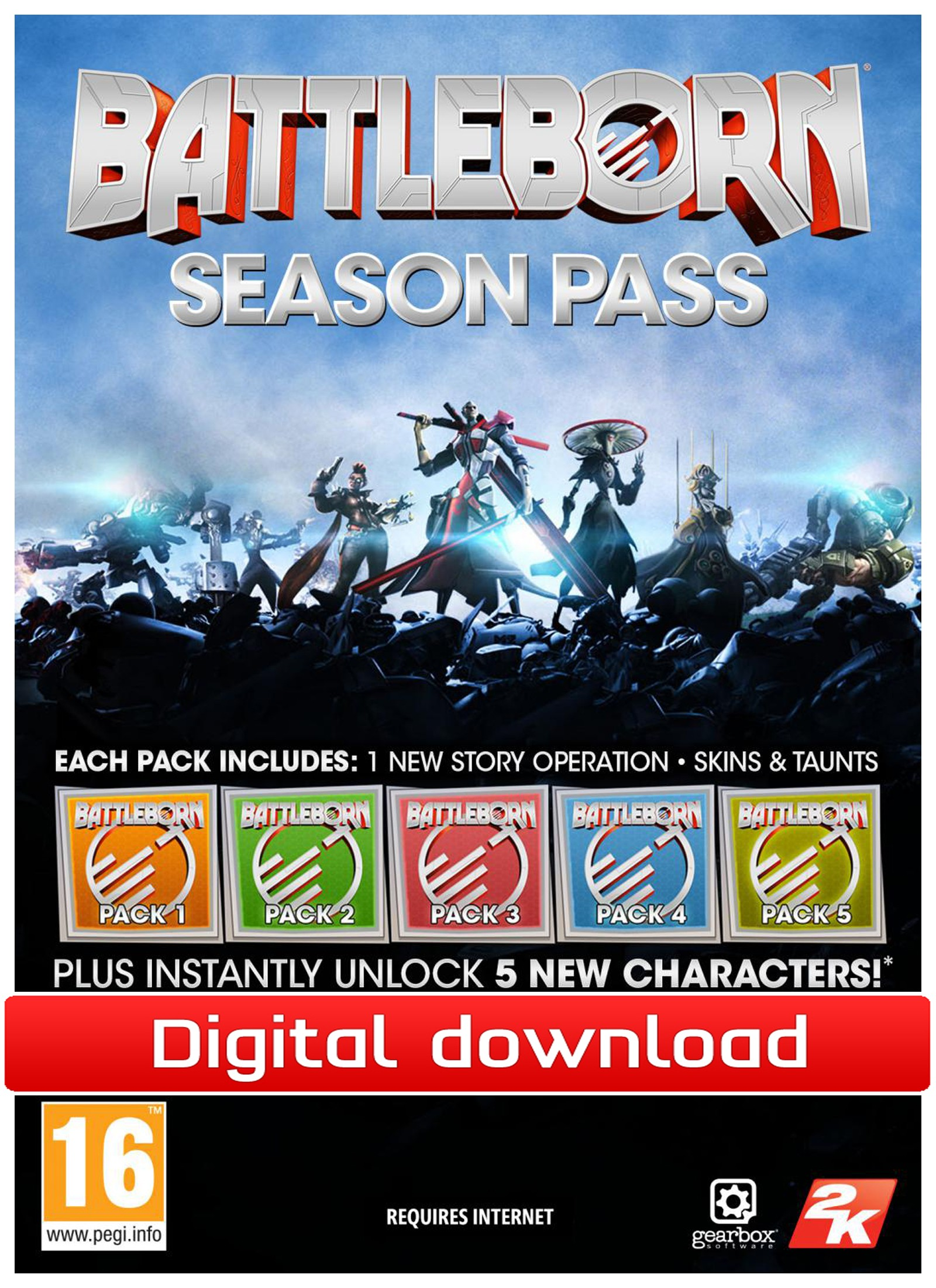 39148 : Battleborn: Season Pass (PC nedlastning)