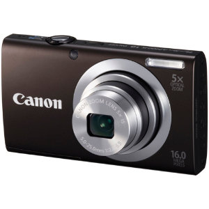 Canon PowerShot A2400 IS kompaktkamera (sort)