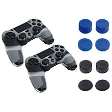 PS4-PIRANHA 10:1 KIT PS4 DUAL CONT 2 SKINS 8 GRIPS